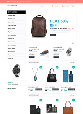Big Shope Responsive Template Index