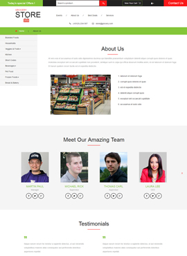 Grocery Store Responsive Template About