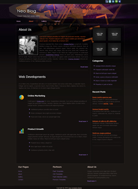 Neo Blog Desktop Web Template About