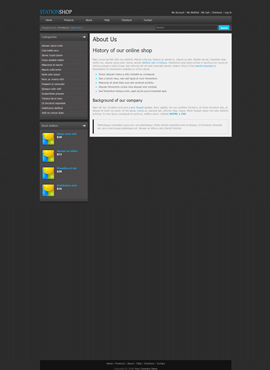 Station Shop Desktop Web Template About